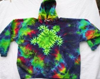 Turtle Tie Dye Hoodie Size XL
