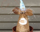 Primitive Birthday Mouse, primitive mouse, birthday gift