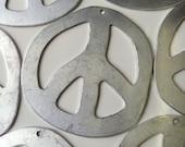 HUGE Aluminum Peace Sign Pendants