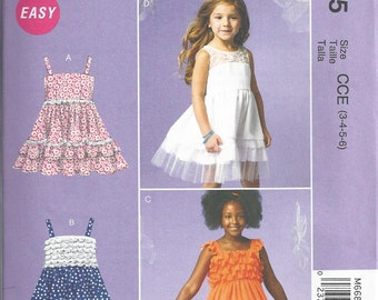 GIRLS CLOTHES PATTERN / Boutique Style Dress - Petticoat / Child Size 3 - 6 or Girl 7 - 14