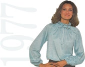 1970s Blouse Vintage Pattern - B36 to B38 - Simplicity 8293 - Flared Sleeve Blouse Pattern - Womens Blouse Pattern