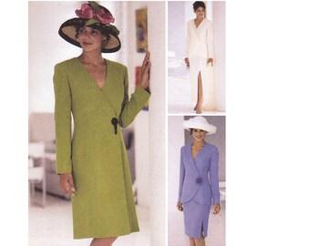 Lined Dress Pattern - Lined Jacket Pattern - Skirt Sewing Pattern - McCalls 2622 - Size 10, 12, 14 - Uncut, Factory Folds