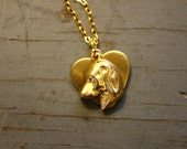 DOG LOVER VTG Charm Gold Plated Necklace
