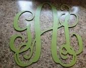 "12"" Wooden Interlocking Monogram Cut Out - UNPAINTED"