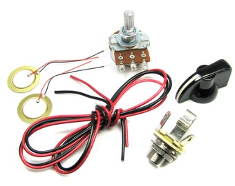 Cigar Box Guitar Electronics Kit - Build your own Piezo Pickup - Includes How-To Guide