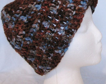 Chunky browns and blues cloche