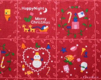 SALE - Christmas Patchwork  Red - Half Yard