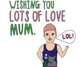 Mothers Day Card - Wishing You Lots Of Love Mum BOY VERSION