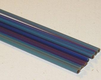StrikingColor (Brad's Glass) DA113 - Handpulled Silver Stringers - 104 coe Glass - Katie Gee - SRA