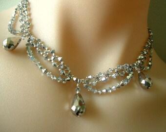 Sparkly Swarovski Crystal Choker Necklace