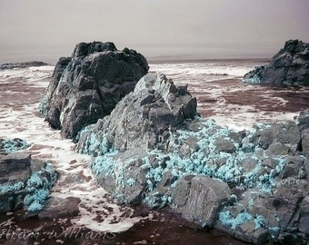 Rocks and Sea 2 - Infrared Photograph - 8 x 12