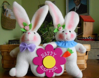 Easter gift grandma etsy easter decoration personalized easter bunny couple easter gift for mom and dad easter negle Gallery
