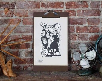 Atelier Populaire Poster Print: Power to the People