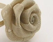 Gold rose ring wire mesh folded sculpture