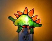 Hendrik the Stegosaurus  Stained Glass Nightlight