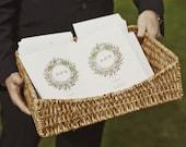 Printable Wedding Program - Wedding Program Template - Vintage Wreath - PDF Download - Monogram Wedding Program - Instant Download Program