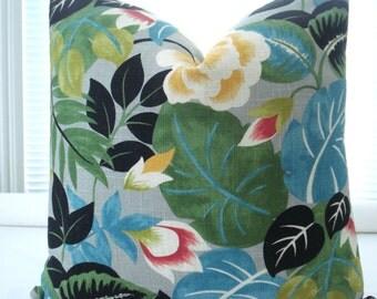 LINEN- Both Sides-Throw  and Lumbar Covers- Decorative Designer Pillow Cover- Teal -Blue-Green-Gold-Throw /Lumbar /Accent Pillow