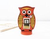 Vintage Owl Perpetual Calendar