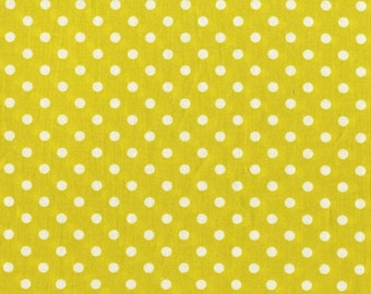 Dumb Dot Citron Michael Miller Fabric 1 Yard