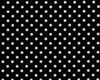 Dumb Dot Black Michael Miller Fabric by the Yard Polka Dot Black and White