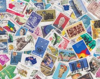 Lot of Mixed Australian Postage Stamps x 30  for Altered Arts Collage Destash