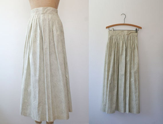 vintage cotton skirt / maxi skirt / Polka Dot Farm