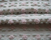 Vintage Chenille Rosebud Fabric - Baby Soft Colors