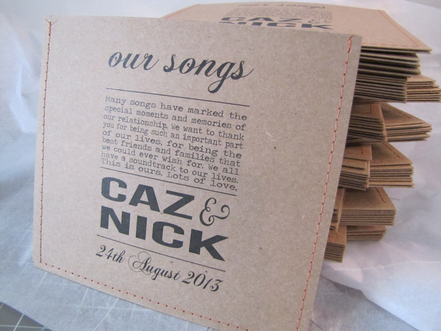 It is a photo of Smart Personalised Cd Labels Wedding