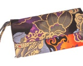 Golden Dragon Wallet / Wristlet / Clutch / Cell Phone / Checkbook pocket / Bridesmaid Gifts / Tatsu  / Alexander Henry