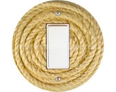 Nautical Sisal Rope Decora Rocker Switch Plate Cover