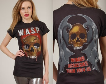 Rare Vintage 80s WASP Tshirt 1984/85 WINGED ASSASSIN'S Tour Concert Shirt Never Worn