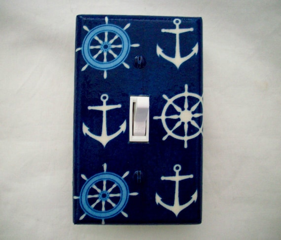 Nautical Light Switch Cover Boat Anchors Navy Sailor