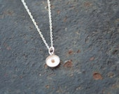 FAITH the Size of a Mustard Seed Sterling Silver Small 8 mm Mustard Seed Resin Pendant Thin Rope Chain Necklace
