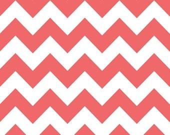 SPRING SALE - Medium Chevron Stripe in Rouge  - 1 yard - C320-79 - Riley Blake Designs