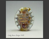 Art Glass Focal Bead - lampwork beads by  Cathy Brown