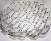 Upcycled Bottles - vintage 6 dram Multi Vial Bowl, lab glass, science geek gift