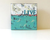 "Turquoise Original Acrylic Abstract Expressionist Painting ""Live"" by Brooke Howie"