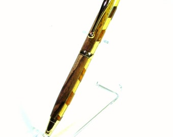 Hand Turned Twist Pen from Unique Laminated Wood