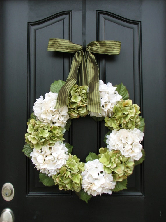 Home And Living Wreaths Hydrangea Wreath Spring Decorations Spring Wreaths Etsy