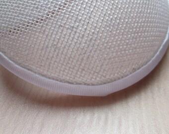 """Sinamay Buckram Round 5"""" diameter White American made  for Fascinators"""