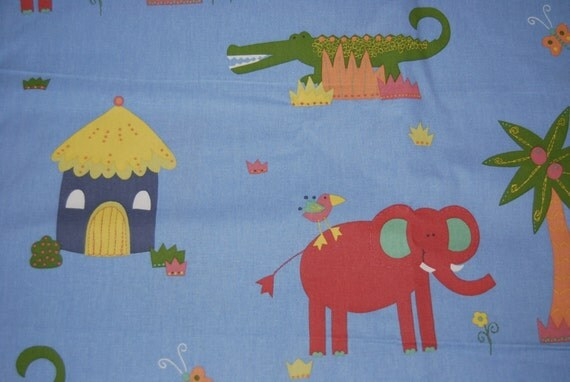 items similar to 2 plus yards jungle safari kids fabric