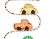 CARS on the Road STITCHY Applique 4x4 5x7 6x10 7x11 svg  Machine Embroidery Design  INSTANT Download