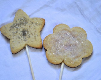 Cookie Lollipops - One dozen star favors