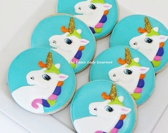Magical unicorn cookies 1 dozen