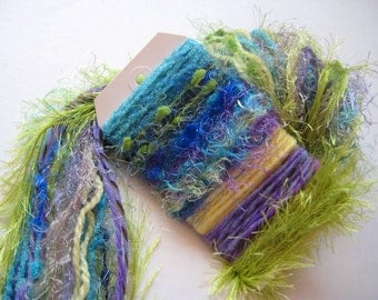 IN THE TROPICS Specialty Yarn Fiber Embellishment Bundle - Altered Arts, Jewelry - 5 or more bundles for 10% discount