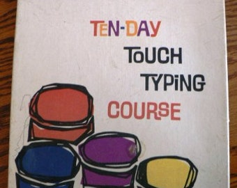 vintage nonfic instruction book records ... TEN DAY Touch TYPING Course retro cool Smith Corona typewriter course ...