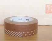 mt washi masking tape - dots and stripes - wax paper - special limited edition