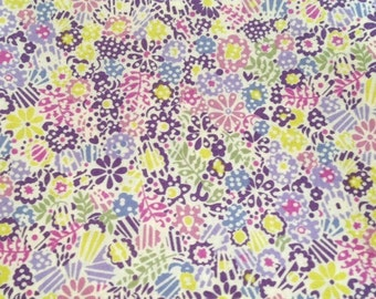 liberty of london - tana lawn cotton - limited edition - clarricoates- purple, pink, blue and green