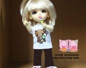 B009 - Lati yellow / pukifee Outfits (T-shirt and pants / Free candy.)