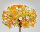 Table Lamp Yellow Floral